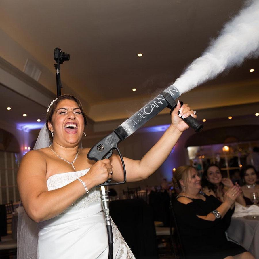 Chicago Wedding CO2 Blast Cannon