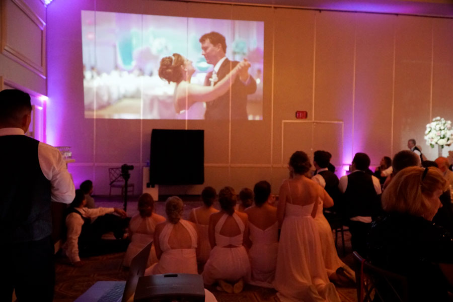 Chicago Wedding Video Projection